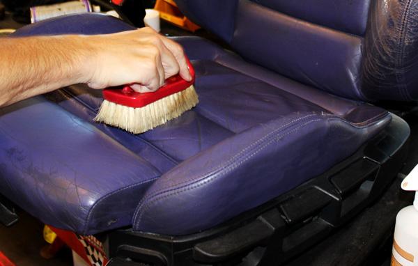 färga bilklädsel skinn