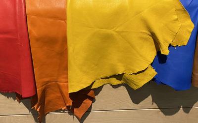 Allmänna instruktioner för infärgning av täckfärgat läder