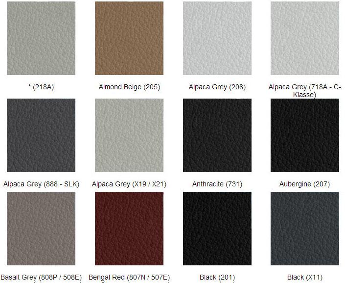 Mercedes färgkarta läderfärg