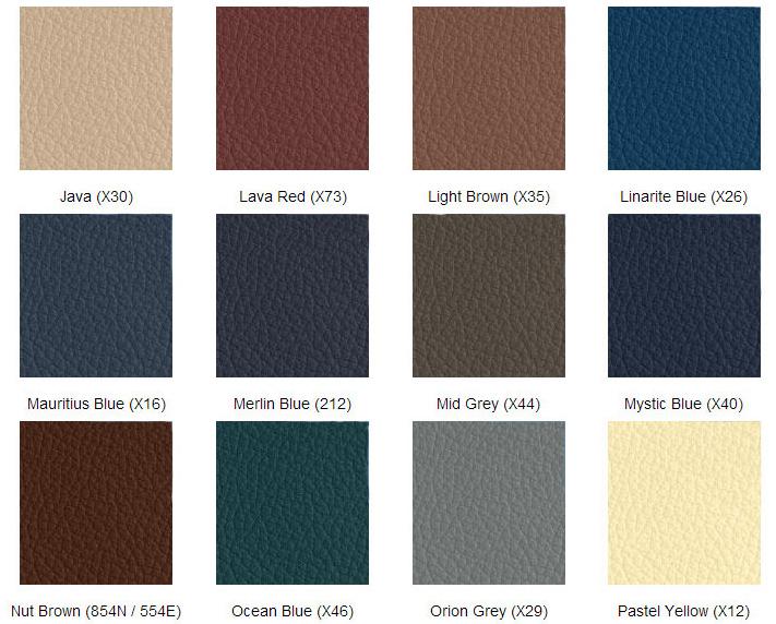 färgkarta läderfärg mercedes 3
