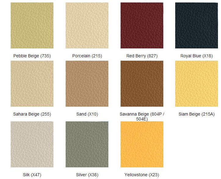 färgkarta läderfärg mercedes 4