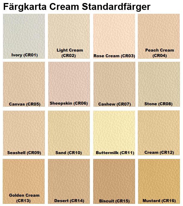 färgkarta läderfärg cream furniture clinic