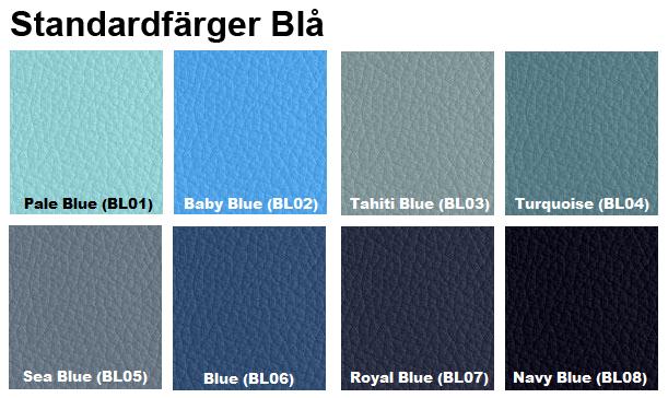 färgkarta standardfärger blå furniture clinic