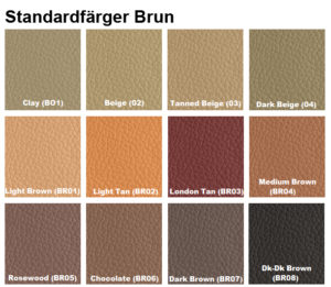 färgkarta läderfärger brun furniture clinic