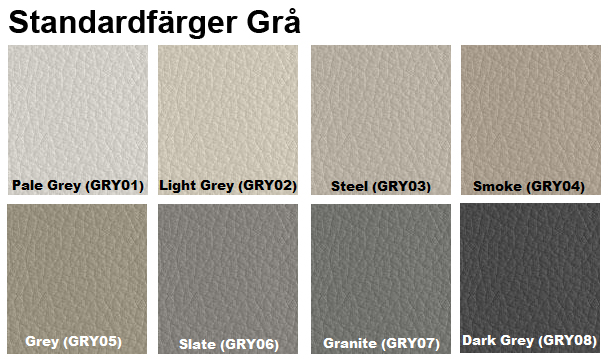 färgkarta läderfärg grå furniture clinic