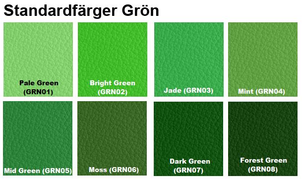 färgkarta läderfärg grön furniture clinic
