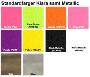 färgkarta läderfärg metallic furniture clinic