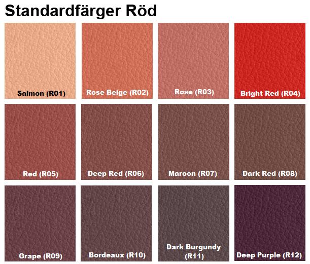 färgkarta läderfärg röd furniture clinic