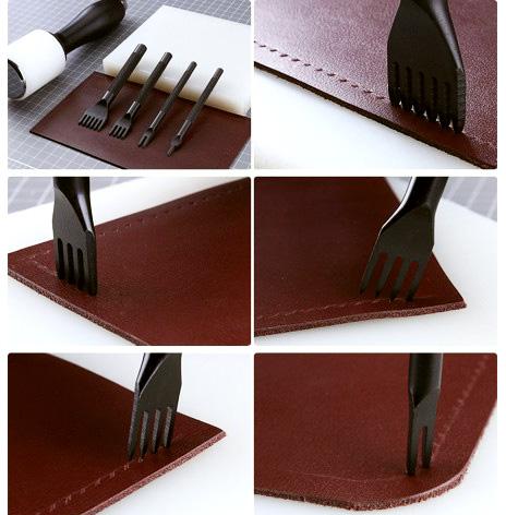 gaffelmejselkit arbete med läder