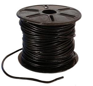 runda svarta lädersnören 2 mm
