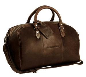 weekendväska liam chesterfield brand dark brown framsida
