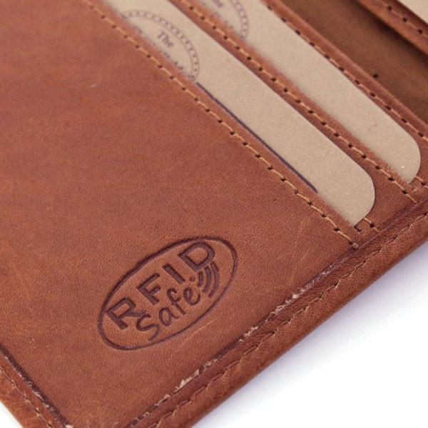 The chesterfield brand plånbok hereford cognac detalj